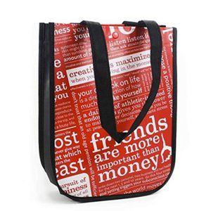 1 lululemon Red w Graphic Print Small Reusable Bag